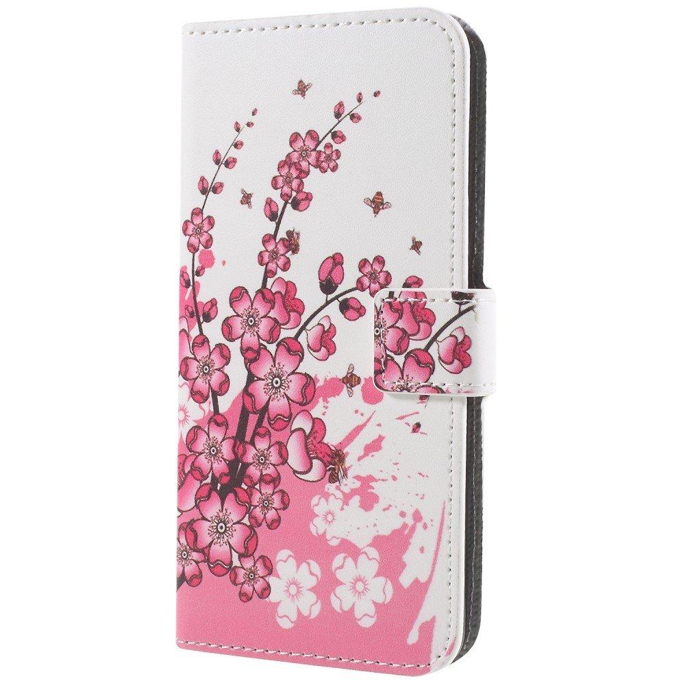 Billede af Samsung Galaxy S9 PU læder Flipcover m. Kortholder - Plum Blossom