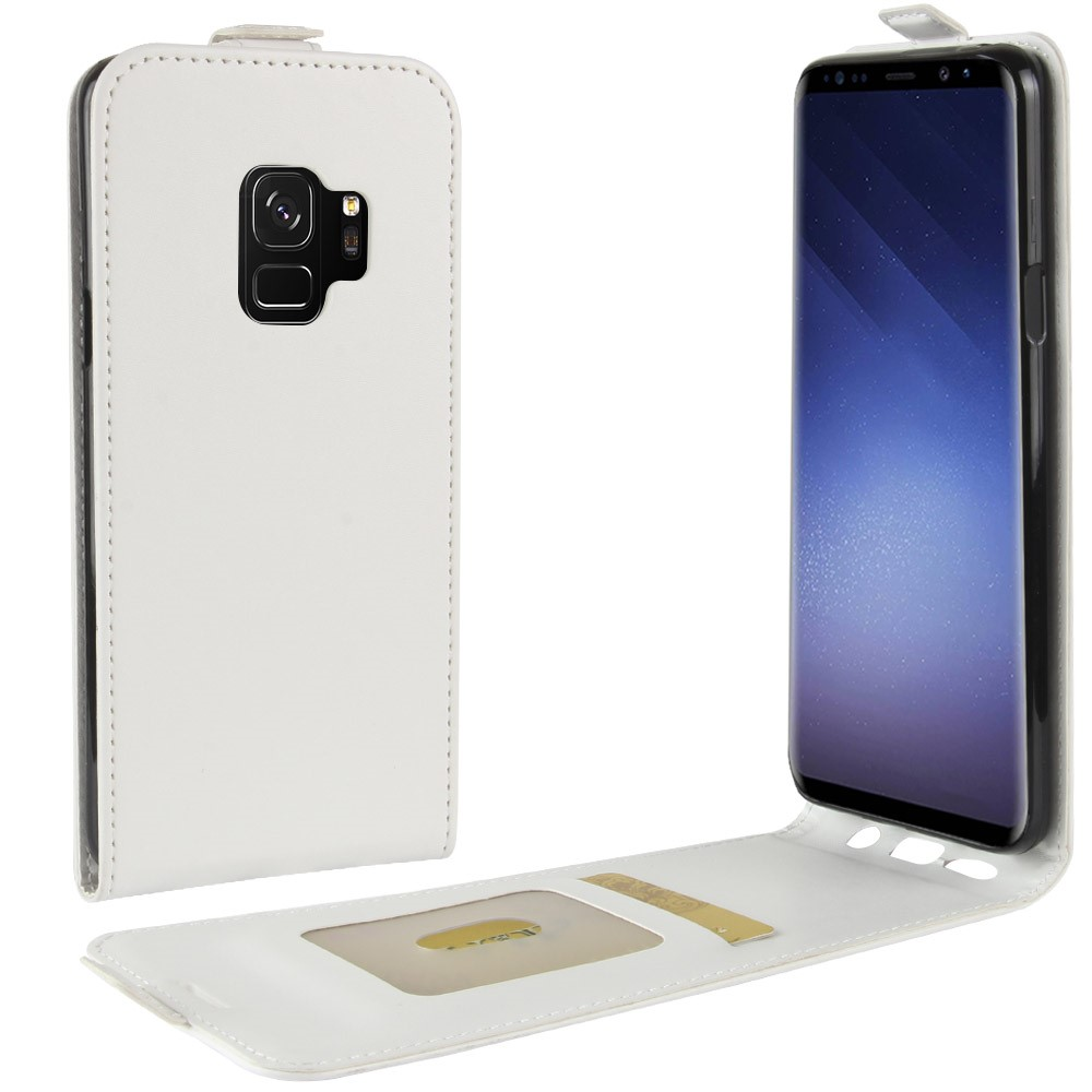 Billede af Samsung Galaxy S9 Vertikal Flipcover m. Kortholder - Hvid