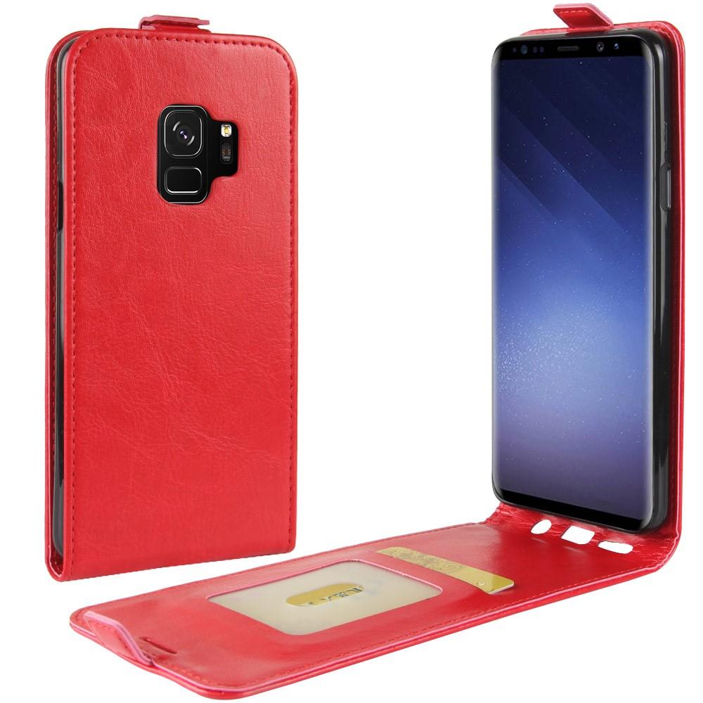 Billede af Samsung Galaxy S9 Vertikal Flipcover m. Kortholder - Rød