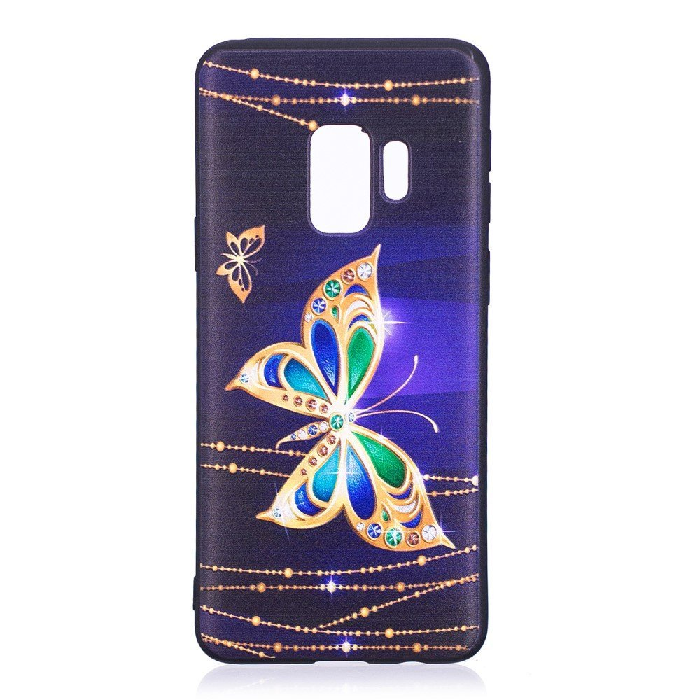 Billede af Samsung Galaxy S9 InCover TPU Cover - Blue Butterfly