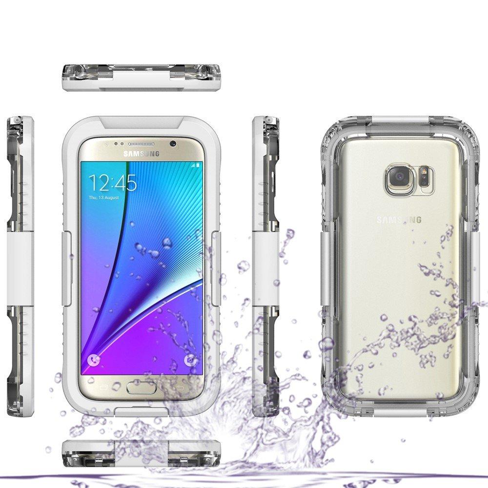 Image of   Samsung Galaxy S7 Vandtæt Cover - Hvid