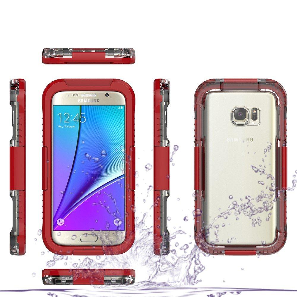 Image of   Samsung Galaxy S7 Vandtæt Cover - Rød