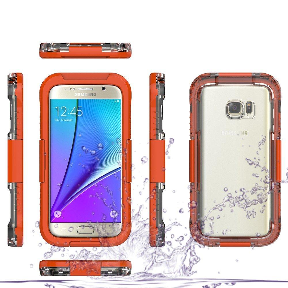 Image of   Samsung Galaxy S7 Vandtæt Cover - Orange