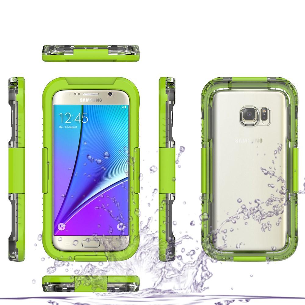 Image of   Samsung Galaxy S7 Vandtæt Cover - Grøn