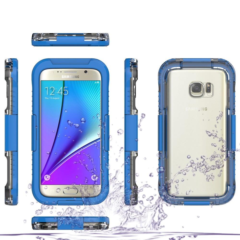Image of   Samsung Galaxy S7 Vandtæt Cover - Blå