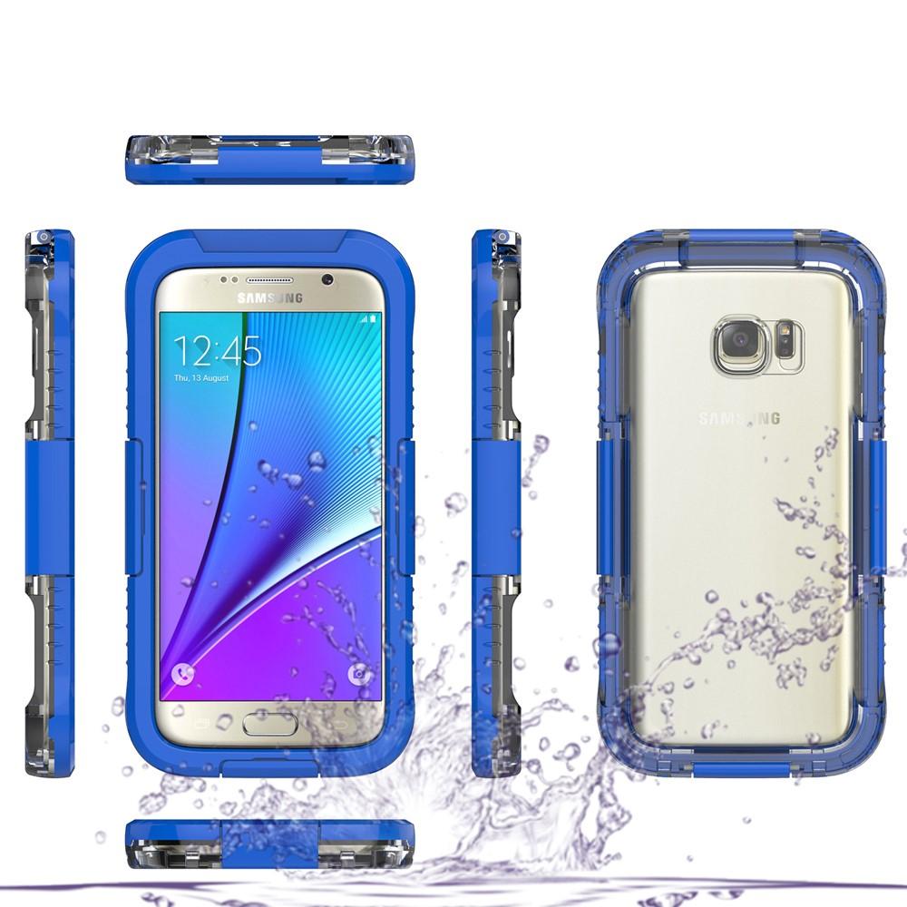 Image of   Samsung Galaxy S7 Vandtæt Cover - Mørk blå