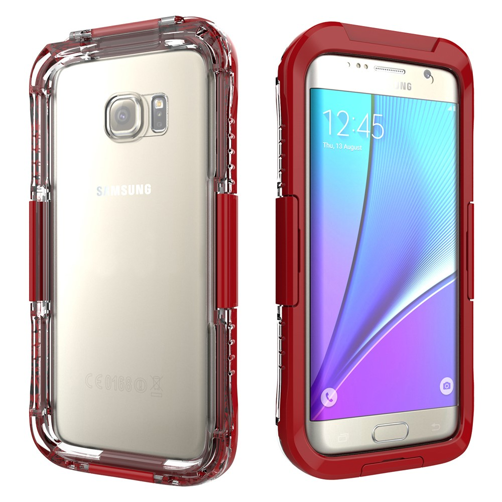 Image of   Samsung Galaxy S7 Edge Vandtæt Cover - Rød