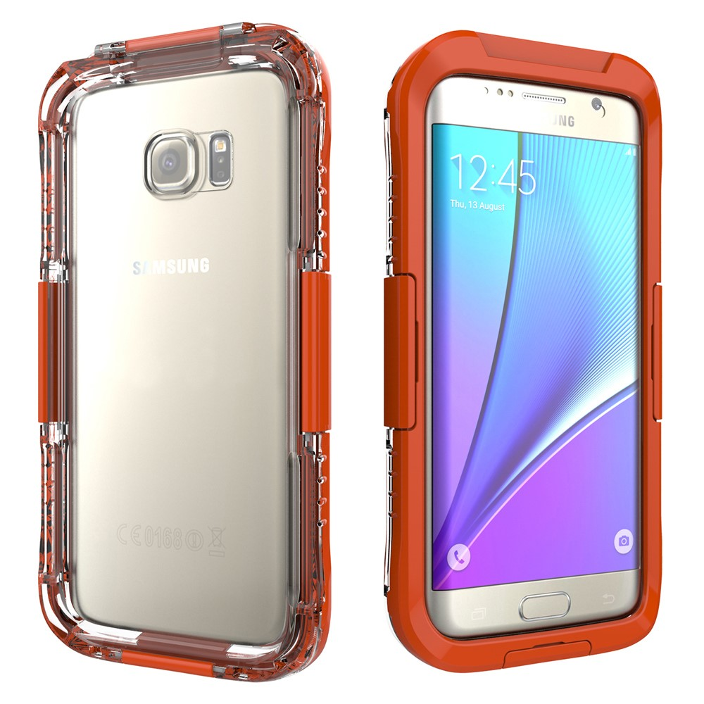 Image of   Samsung Galaxy S7 Edge Vandtæt Cover - Orange