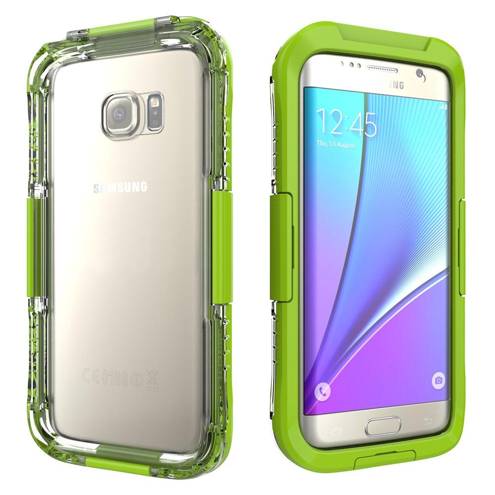 Image of   Samsung Galaxy S7 Edge Vandtæt Cover - Grøn