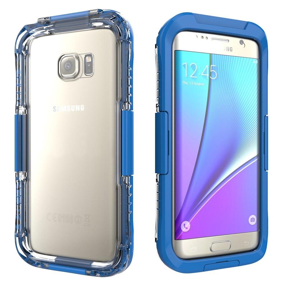 Image of   Samsung Galaxy S7 Edge Vandtæt Cover - Blå
