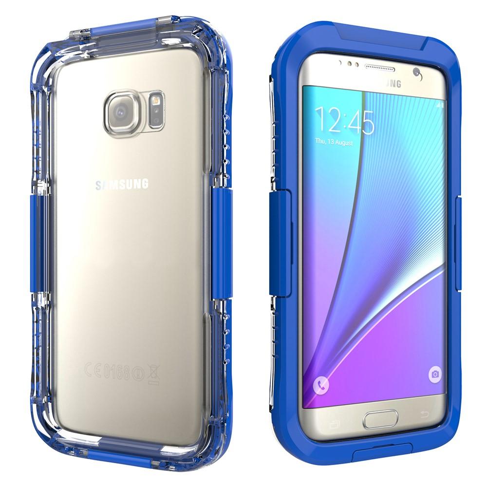 Image of   Samsung Galaxy S7 Edge Vandtæt Cover - Mørk blå