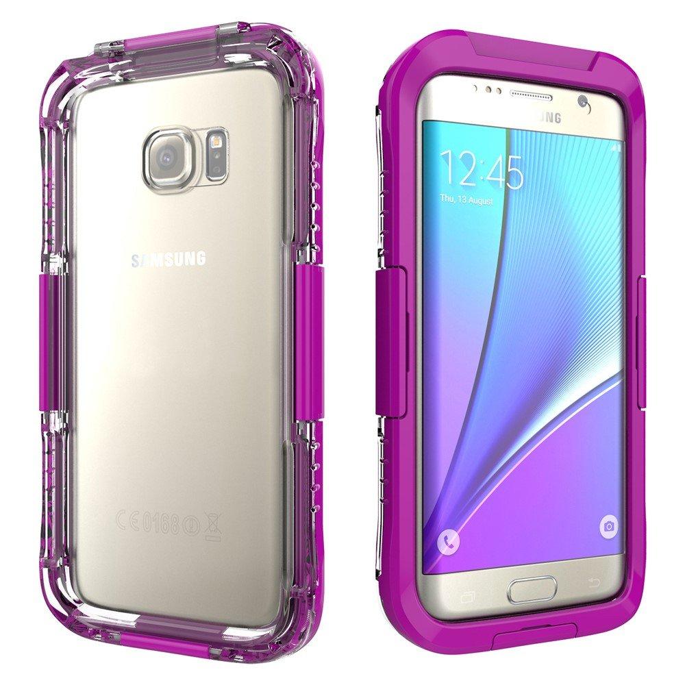Image of   Samsung Galaxy S7 Edge Vandtæt Cover - Lilla