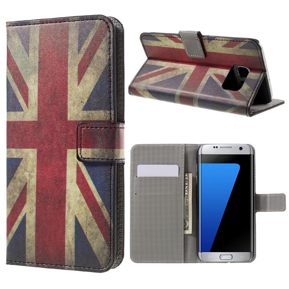 Billede af Samsung Galaxy S7 Edge PU læder FlipCover m. Kortholder - UK Flag