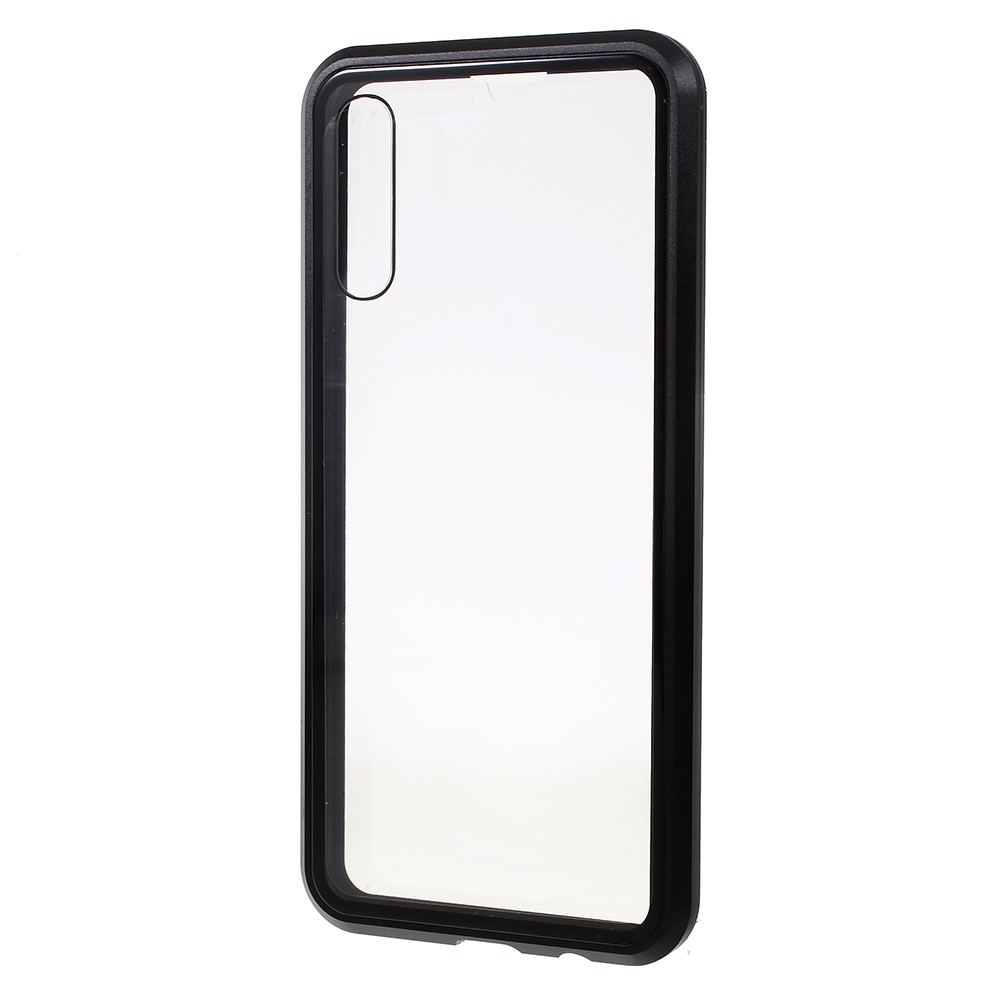 Image of   Samsung Galaxy A30s / A50 Metal Cover med Glas Front og Bagside - Sort