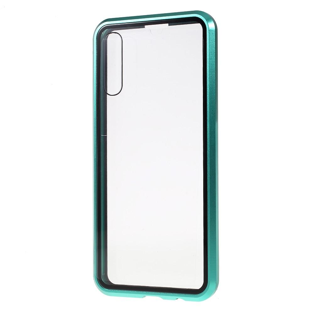 Image of   Samsung Galaxy A50 Metal Cover med Glas Front og Bagside - Grøn