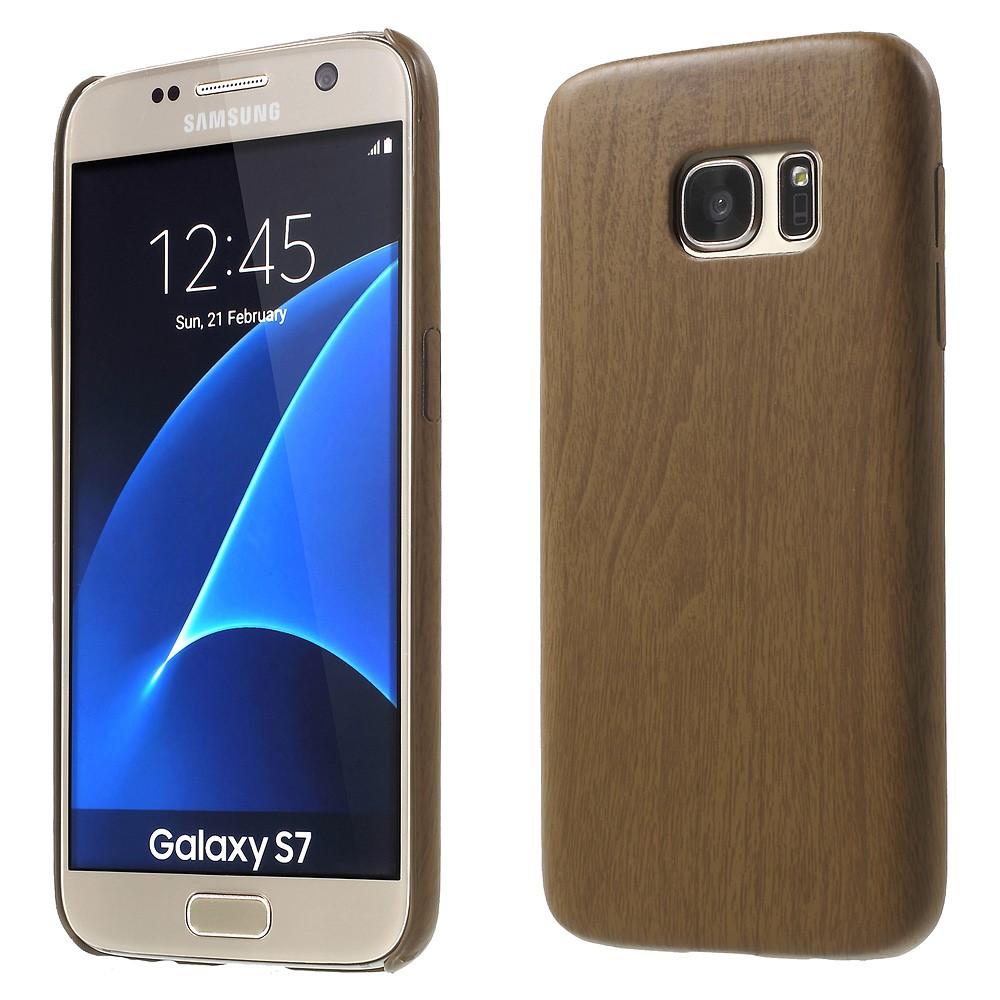 Image of Samsung Galaxy S7 InCover PU Læder TræCover - Brun