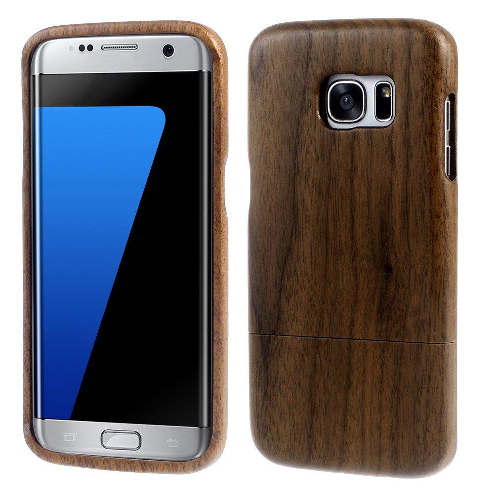 Image of Samsung Galaxy S7 Edge InCover Træ Cover - Mørk brun
