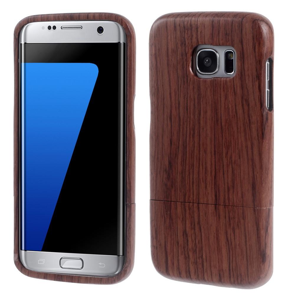 Image of Samsung Galaxy S7 Edge InCover Træ Cover - Vinrød