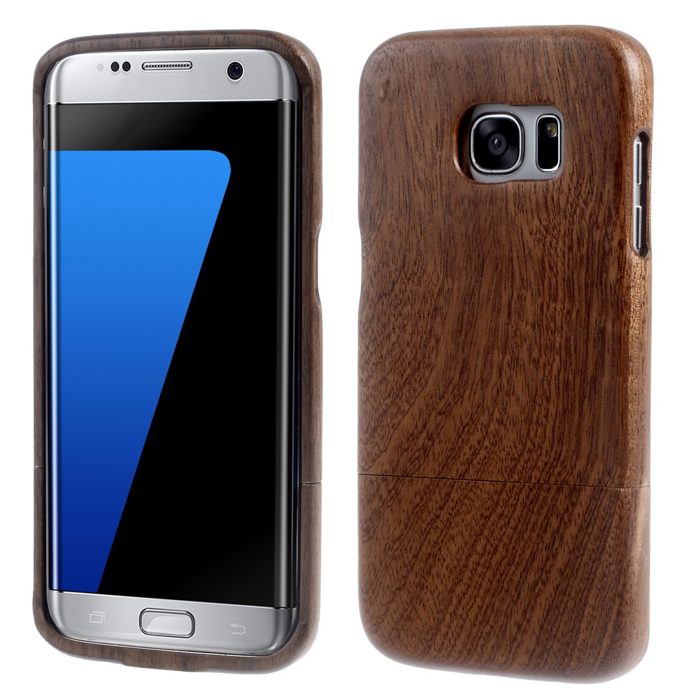 Image of Samsung Galaxy S7 Edge InCover Træ Cover - Lys brun