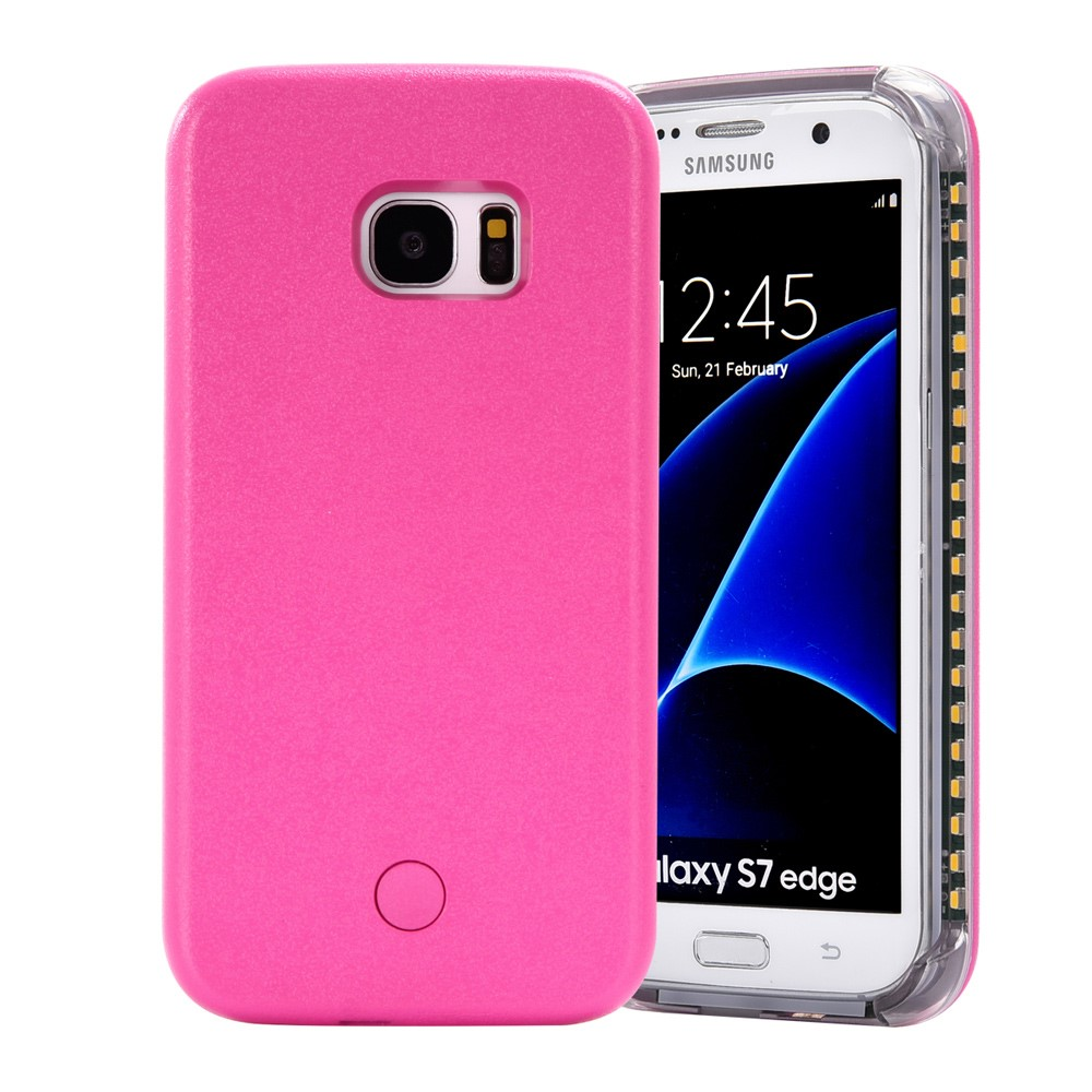 Image of Samsung Galaxy S7 Selfie Cover m. Lys - Rosa