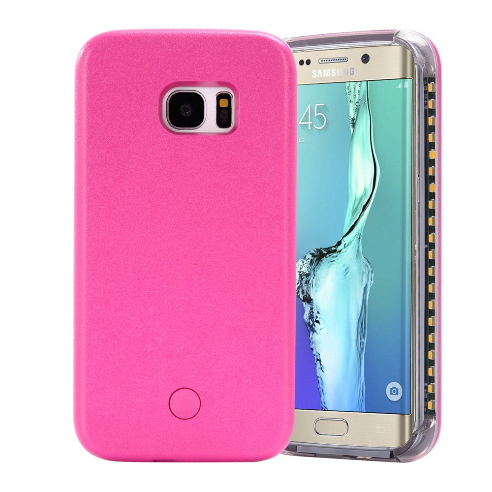 Image of Samsung Galaxy S6 Edge Selfie Cover m. Lys - Rosa