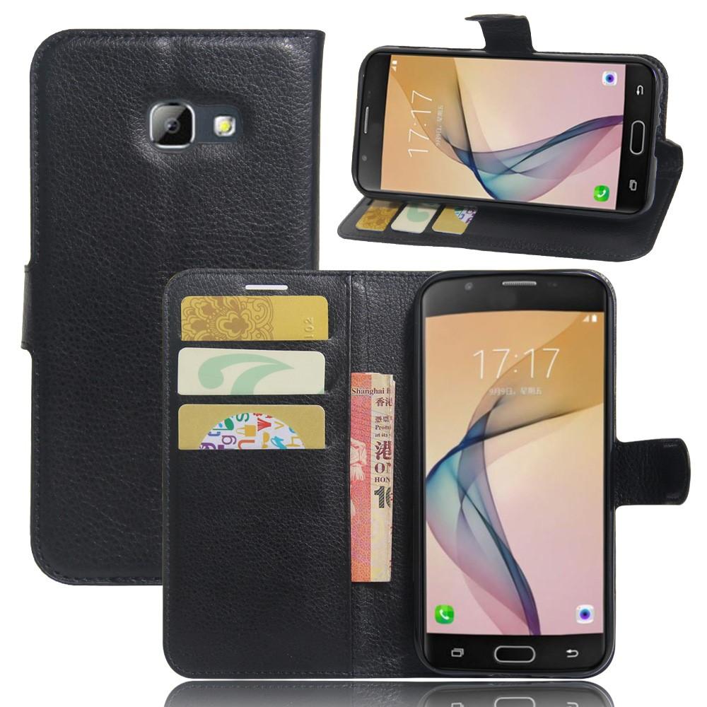 Image of   Samsung Galaxy A5 (2017) PU læder FlipCover m. Kortholder - Sort