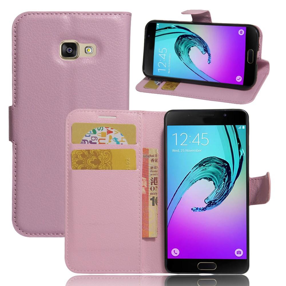 Image of   Samsung Galaxy A3 (2017) PU læder FlipCover m. Kortholder - Pink