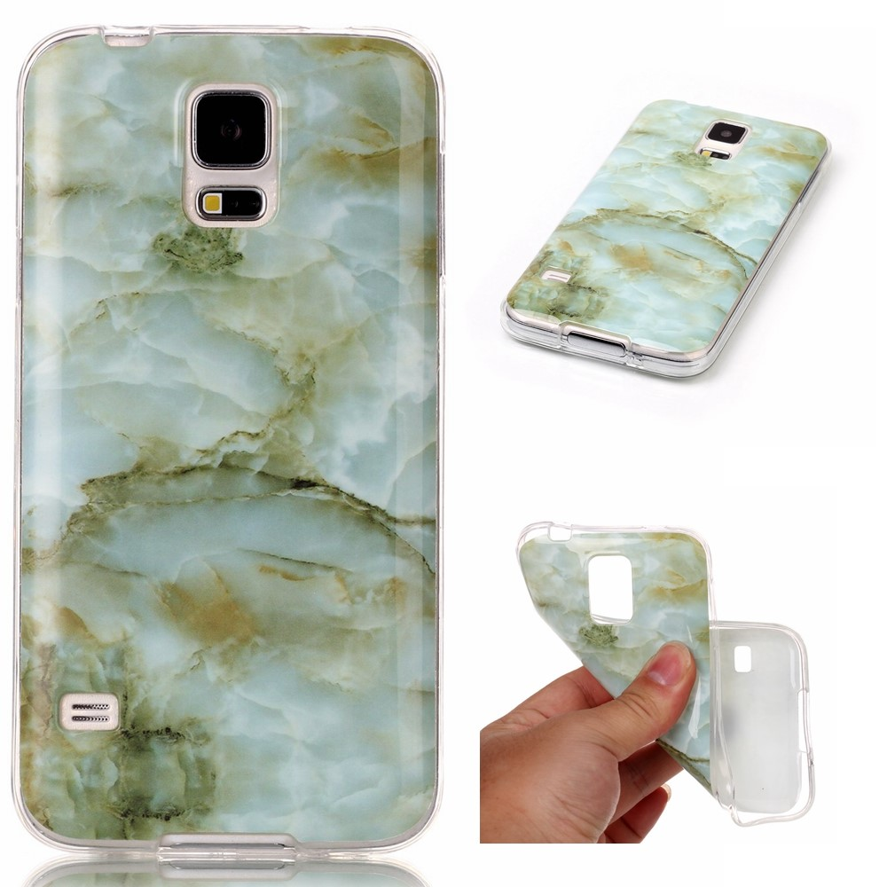 Image of Samsung Galaxy S5 InCover Premium Marmor TPU Cover - Grøn