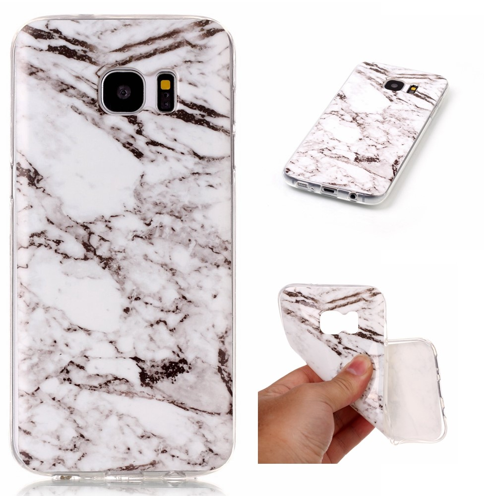 Image of Samsung Galaxy S7 Edge InCover Premium Marmor TPU Cover - Grå