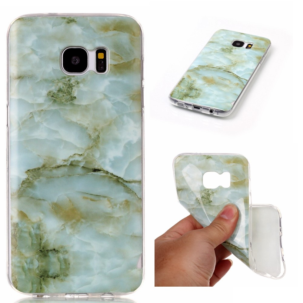 Image of Samsung Galaxy S7 Edge InCover Premium Marmor TPU Cover - Grøn