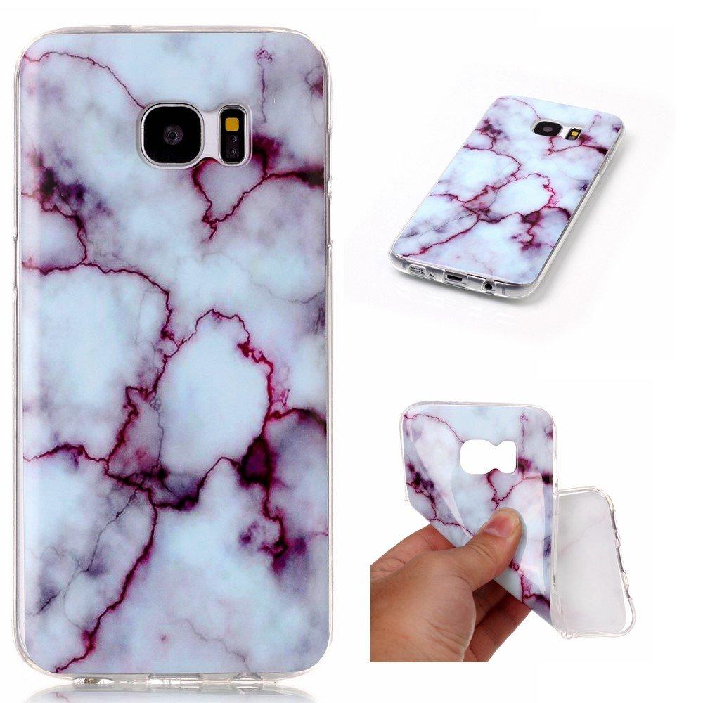 Image of Samsung Galaxy S7 Edge InCover Premium Marmor TPU Cover - Lilla