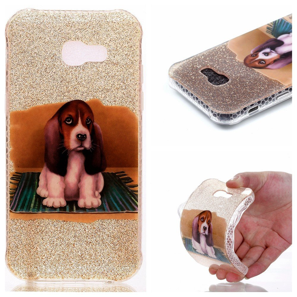 Image of   Samsung Galaxy A3 (2017) InCover Glossy TPU Cover - Cute Dog