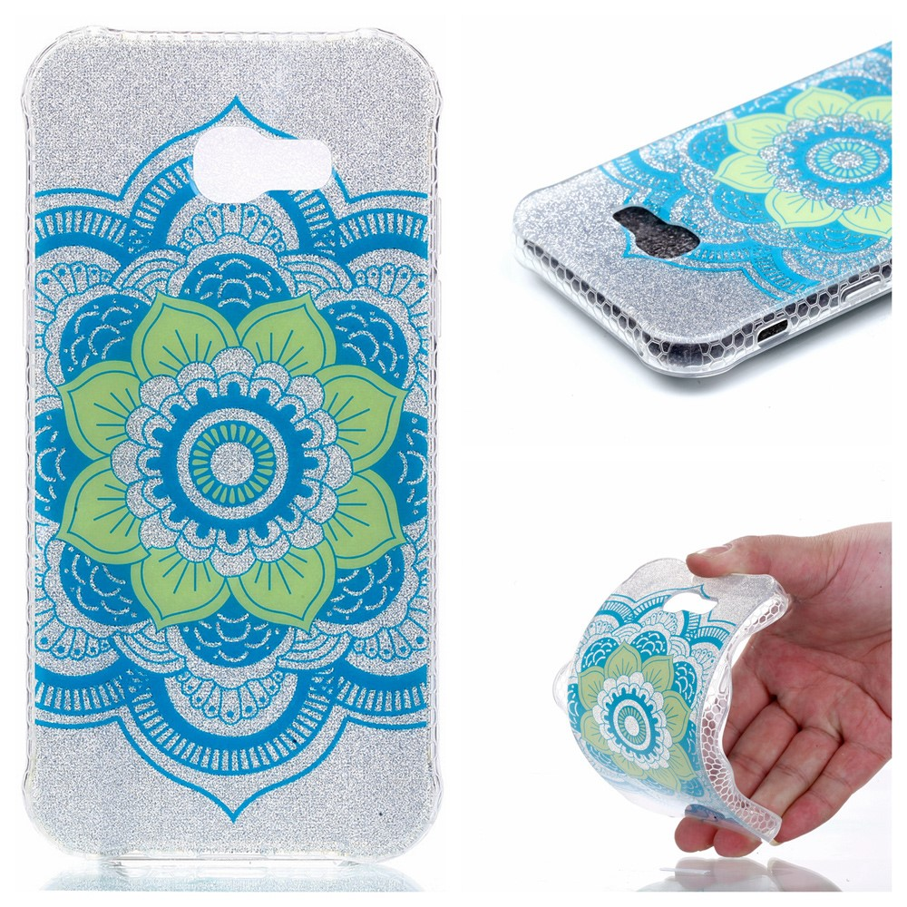 Image of   Samsung Galaxy A3 (2017) InCover Glossy TPU Cover - Henna Lotus
