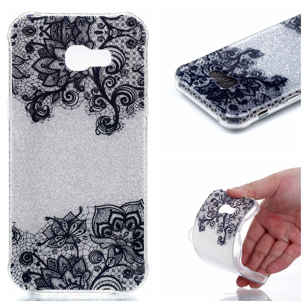 Image of   Samsung Galaxy A3 (2017) InCover Glossy TPU Cover - Lace Pattern