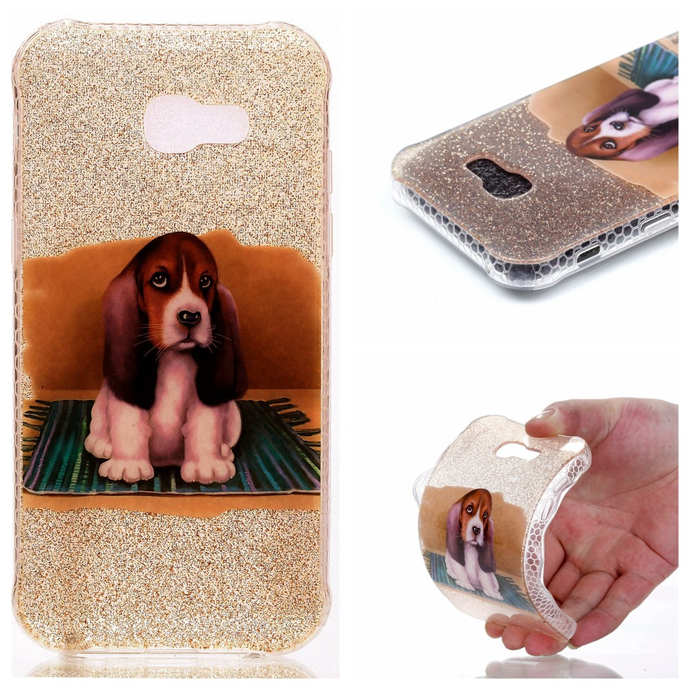 Image of   Samsung Galaxy A5 (2017) InCover Glossy TPU Cover - Cute Dog
