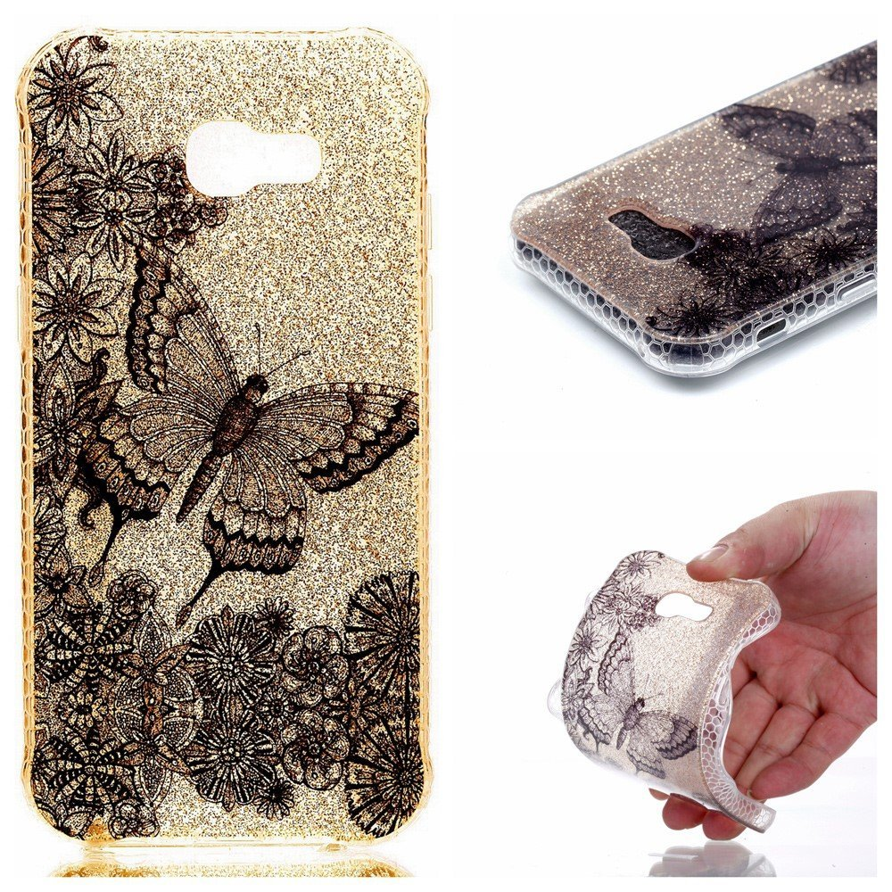 Image of   Samsung Galaxy A5 (2017) InCover Glossy TPU Cover - Butterfly Flowers