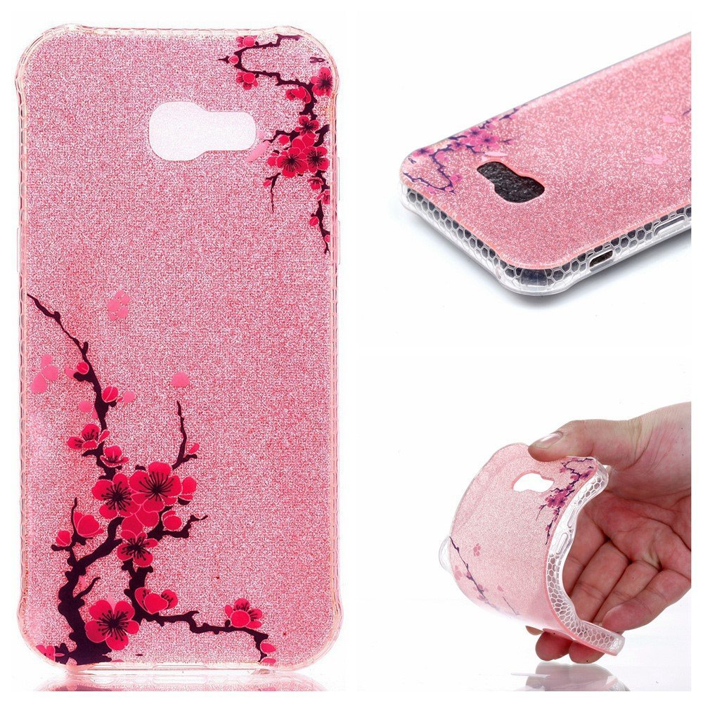 Samsung Galaxy A5 (2017) InCover Glossy TPU Cover - Plum Flowers