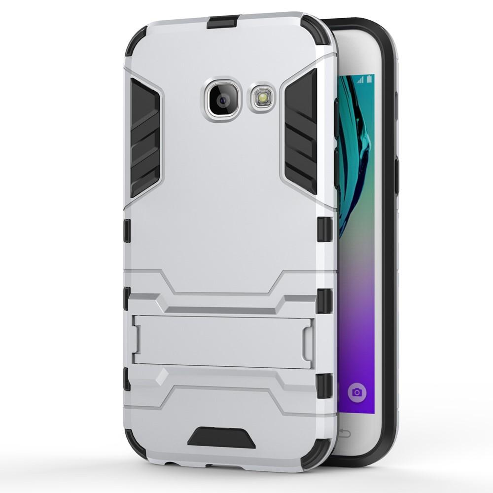 Image of   Samsung Galaxy A3 (2017) TPU Hybrid Cover - Sølv