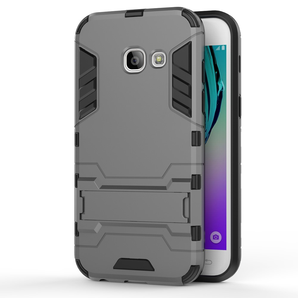 Image of   Samsung Galaxy A3 (2017) InCover TPU Hybrid Cover - Grå