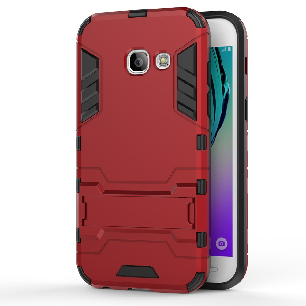 Image of   Samsung Galaxy A3 (2017) InCover TPU Hybrid Cover - Rød