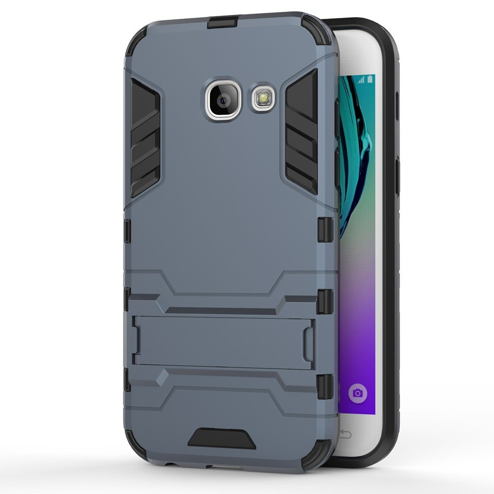 Image of   Samsung Galaxy A3 (2017) InCover TPU Hybrid Cover - Mørk Blå