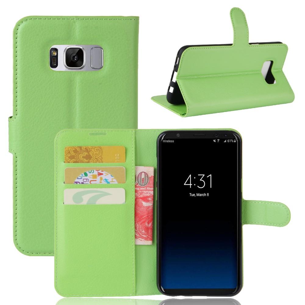 Image of   Samsung Galaxy S8 Plus PU Læder Flipcover m. Kortholder - Grøn