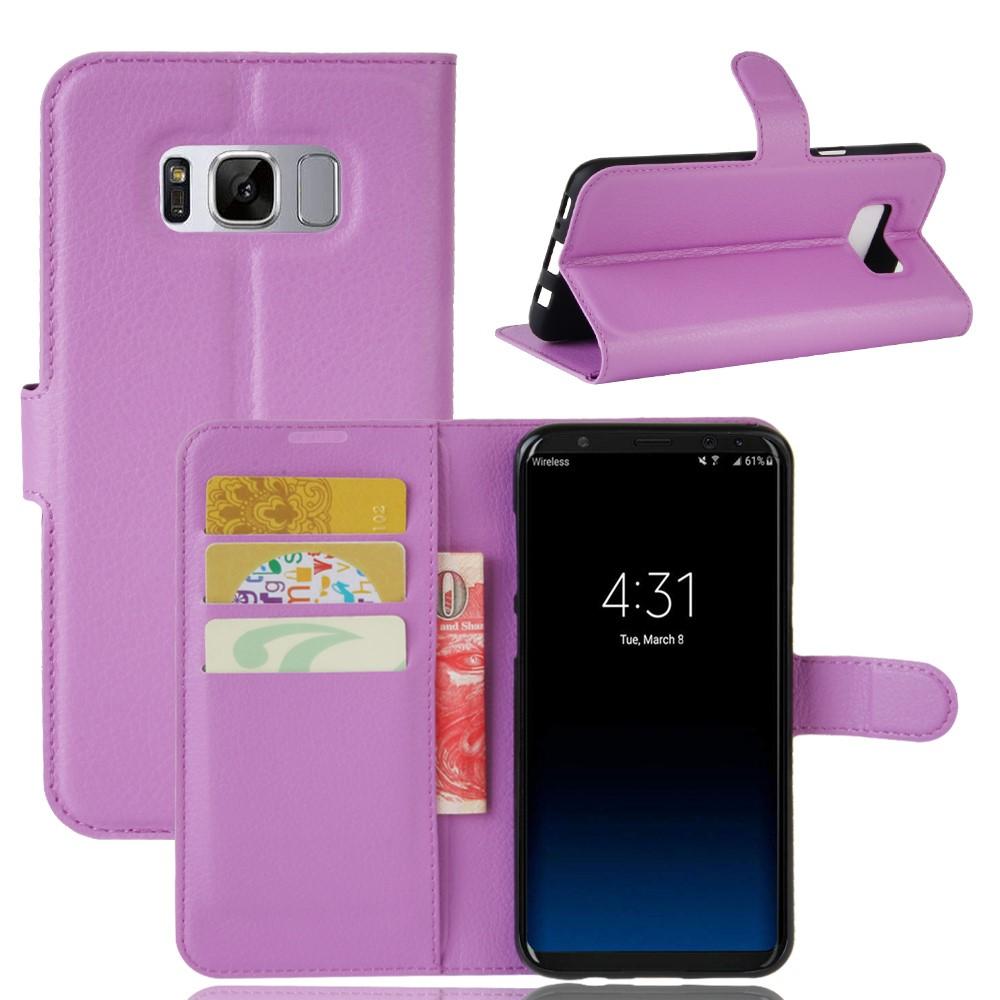 Image of   Samsung Galaxy S8 Plus PU Læder Flipcover m. Kortholder - Lilla