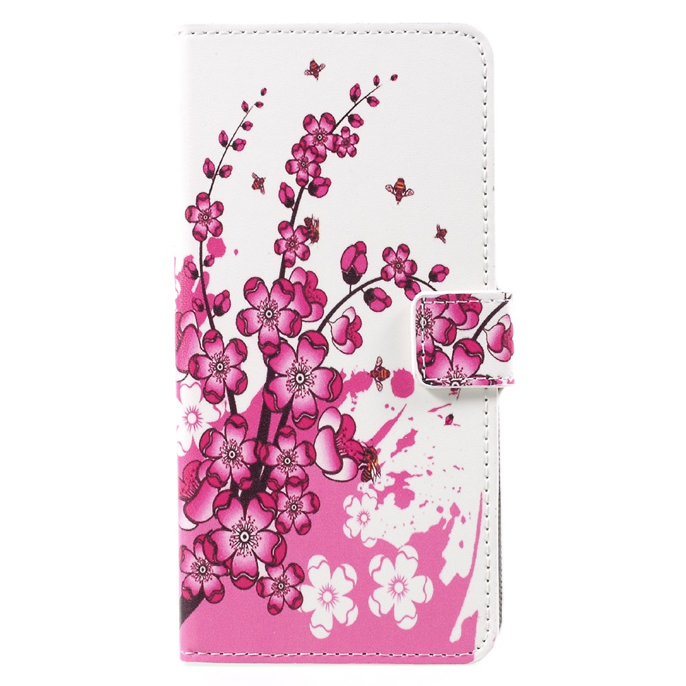 Image of   Samsung Galaxy S8 Plus PU Læder Flipcover m. Kortholder - Plum Blossom