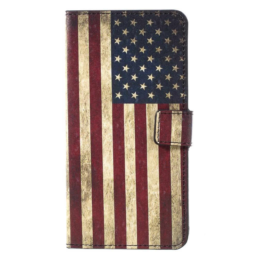 Image of   Samsung Galaxy S8 Plus PU Læder Flipcover m. Kortholder - US Flag