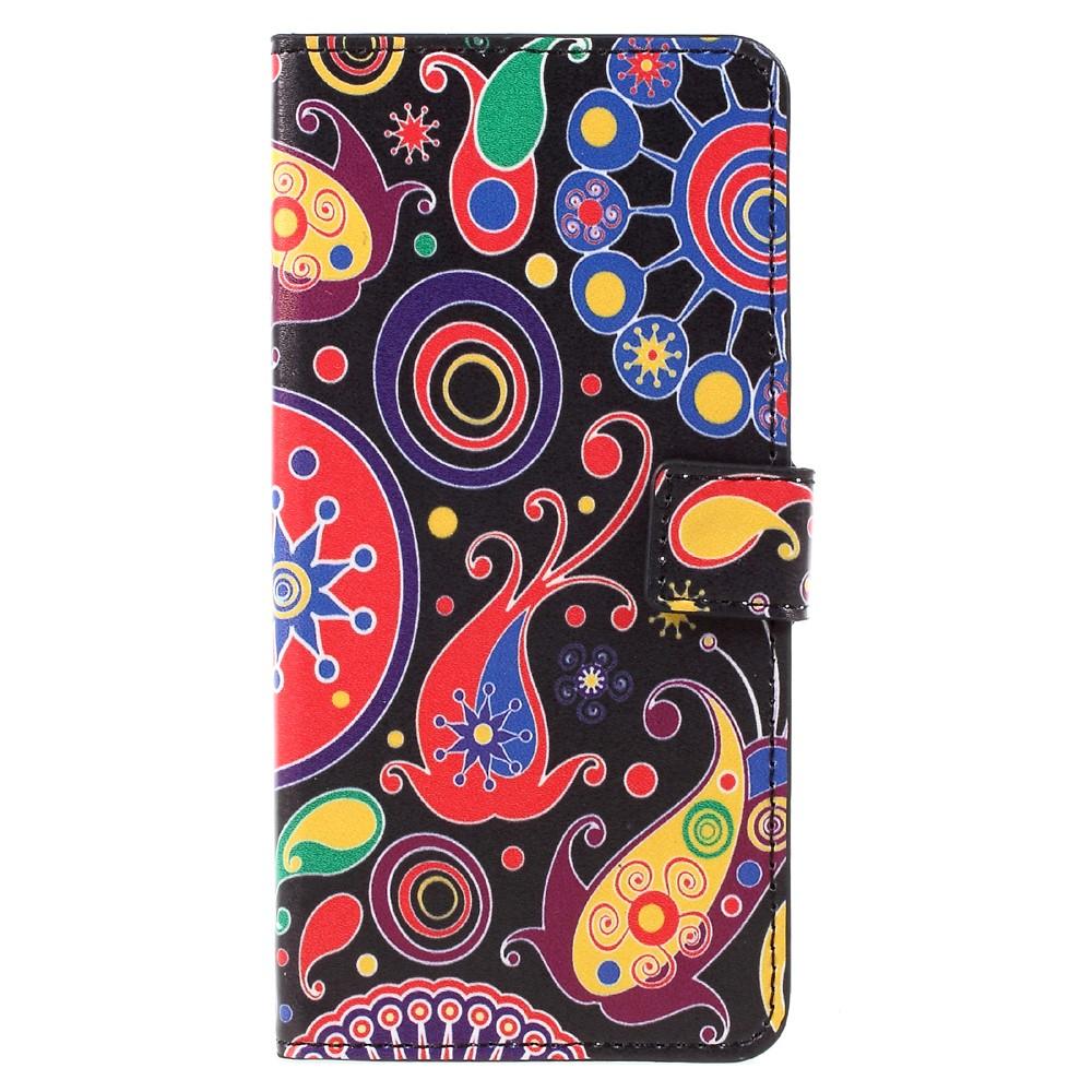 Image of   Samsung Galaxy S8 Plus PU Læder Flipcover m. Kortholder - Paisley Flowers