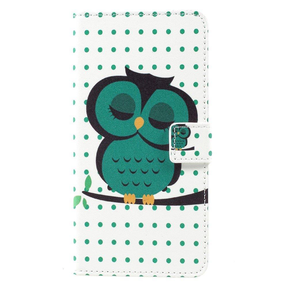 Image of   Samsung Galaxy S8 Plus PU Læder Flipcover m. Kortholder - Sleeping Owl