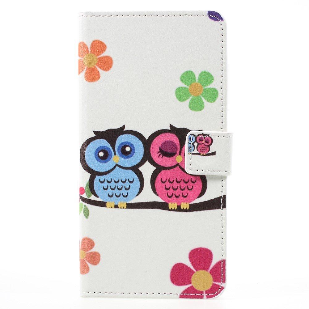 Image of   Samsung Galaxy S8 Plus PU Læder Flipcover m. Kortholder - Love Owls
