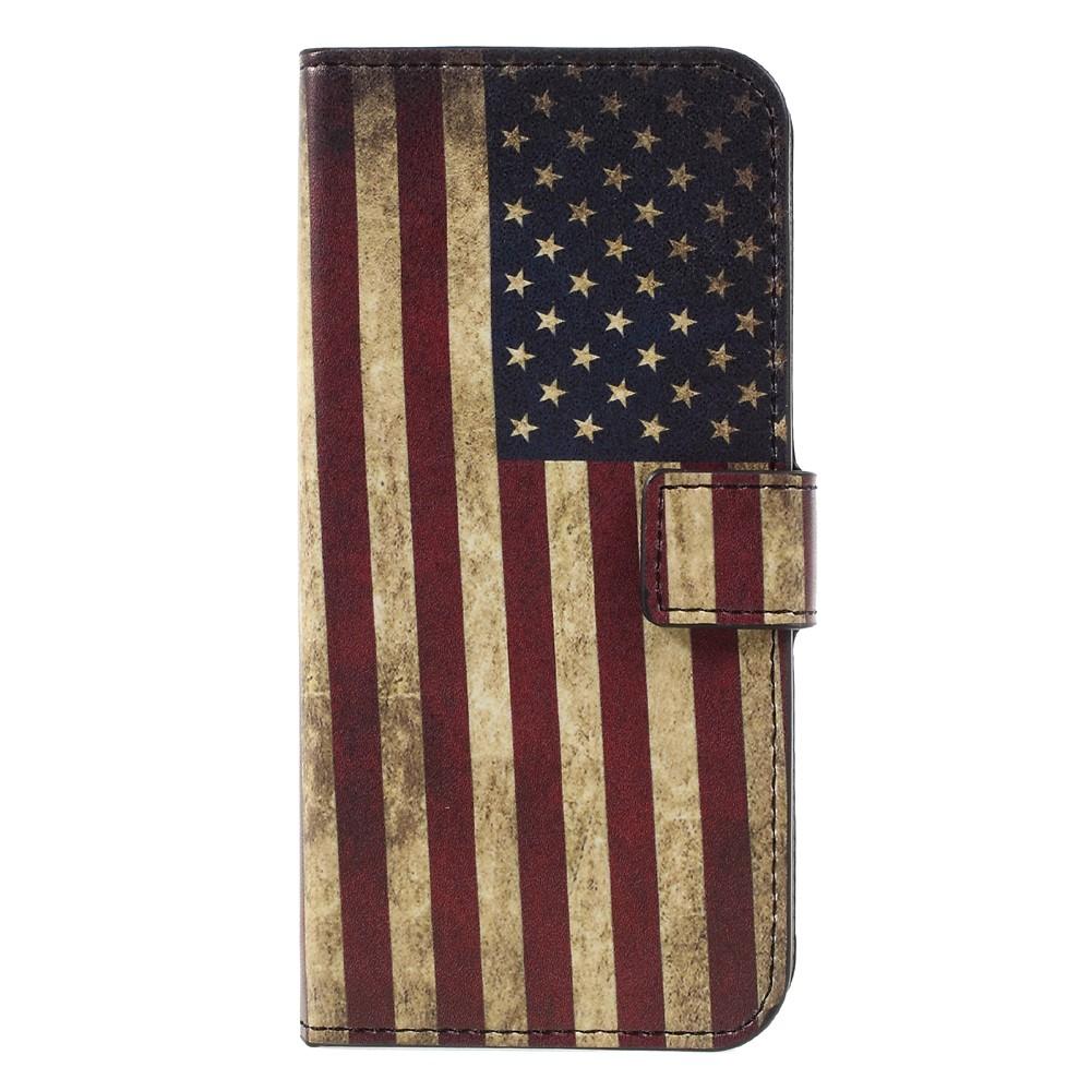 Image of   Samsung Galaxy S8 PU læder Flipcover m. Kortholder - US Flag