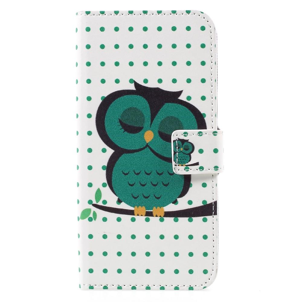 Image of   Samsung Galaxy S8 PU læder Flipcover m. Kortholder - Sleeping Owl
